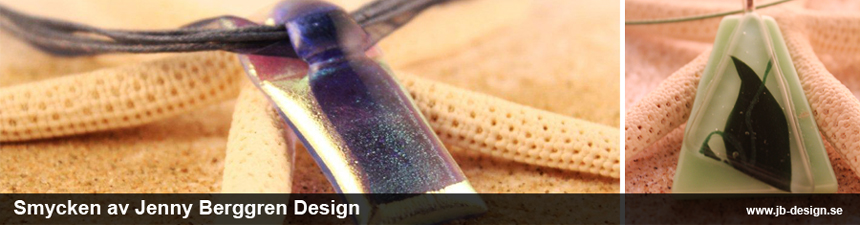 Jenny berggren design Glas-smycken